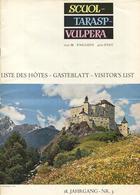 Schweiz - Scuol Tarasp Vulpera 1963 - Gästeblatt 18 Jahrgang Nr. 3 - 20 Seiten Wissenswertes - Allgemeine Auskünfte - Ve - Dépliants Touristiques