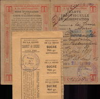 Seine (dpt), Paris, Carte D Alimentation Sucre + Carnet De Sucre, 1920         (bon Etat) - Mappe