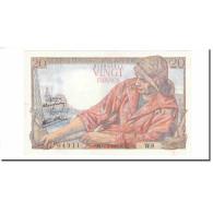 France, 20 Francs, Pêcheur, 1942, 1942-02-12, SUP, Fayette:13.1, KM:100a - 1871-1952 Antichi Franchi Circolanti Nel XX Secolo