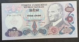FF - Turkey Banknote 1970 1000 LIRAS P-191 F86 205551 UNC - Turkey