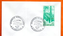 MAURY N° 1635  GYANNE L'ESPACE  ( Cachet Concordant ) 1970    31 TOULOUSE    Lettre Entière N° CD 269 - Marcophilie (Lettres)