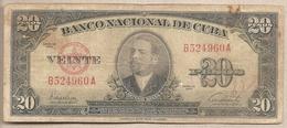 Cuba -banconota Circolata Da 20 Pesos P-80a - 1949 #17 - Cuba