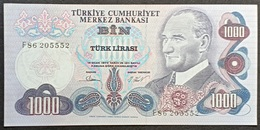 FF - Turkey Banknote 1970 1000 LIRAS P-191 F86 205552 UNC - Turkey