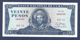 Cuba 20 Pesos 1990 P105d SC UNC - Cuba