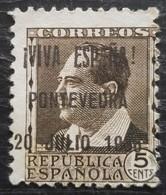 Timbre Local Patriotique De Pontevedra N° 6 Neuf Sans Gomme - Emisiones Nacionalistas