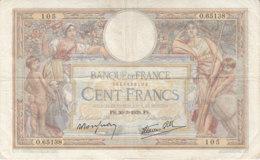 Billet 100 F L. O. Merson Du 30-3-1939 FAY 25.44 Alph. O.65138 - 1871-1952 Antichi Franchi Circolanti Nel XX Secolo