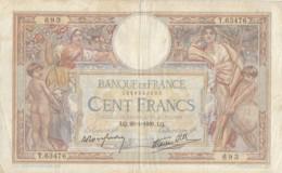 Billet 100 F L. O. Merson Du 26-1-1939 FAY 25.40 Alph. T.63476 - 1871-1952 Antichi Franchi Circolanti Nel XX Secolo