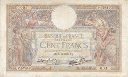 Billet 100 F L. O. Merson Du 8-12-1938 FAY 25.36 Alph. P.62649 - 1871-1952 Antichi Franchi Circolanti Nel XX Secolo