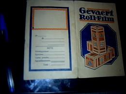 Vieux Papier Publicité Pochette De Rangement D Pelicule & Photos Gevaert ROLL FILM - Autres