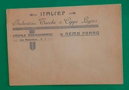 Cartolina Industria Tacchi E Ceppi Legno - Casale Monferrato - 1950 - Pubblicitari