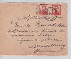 CBPND24/ TP 123 (2) S/L.c.PMB-BPL 1915 > Membre Comité De Secours Belge Middelbourg C.d'arrivée 13/9/15 - Belgische Armee