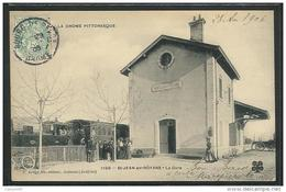 CPA 26 Saint Jean En Royans La Gare Et Le Train Tramway Ligne De Valence à Pont En Royans - France