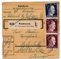 ALLEMAGNE  /  COLIS-POSTAL / De Waldeneck / 23-11-43 - Lettres & Documents