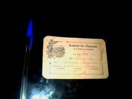 Vieux Papier Carte Syndicat Des Chasseurs Du Carmausin Carmaux Année 1950 - Mappe