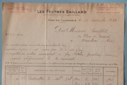 02 AISNE FERE-EN-TARDENOIS FACTURE COMMERCE DE CHAUSSURES 1932 - France