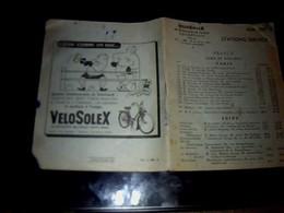 Vieux Papier VELOSOLEX  Courbevoie Carnet Des Stations Services De France Avec Pubs Solexine Velosolex 1953 - Pubblicitari