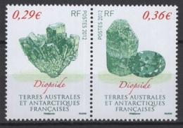T.A.A.F. 2012. N° Y&T 602/03 **, MNH, Fraîcheur Postale, TTB !!. - Terres Australes Et Antarctiques Françaises (TAAF)