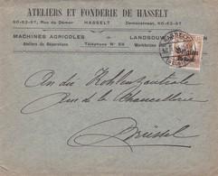 Enveloppe OC1 Ateliers Et Fonderie De Hasselt - WW I