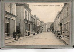CPA - Les AIX-d'ANGILLON (18) - Aspect De La Pharmacie Et De La Boucherie De La Grande Rue En 1914 - Les Aix-d'Angillon