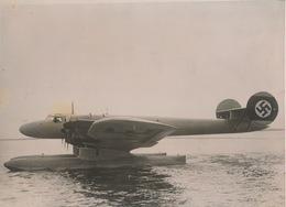 PHOTO 18 X 13 CM - FLYING BOAT ,, PROJECTILE ,, DESIGN  1937   VOIR LA DESCRIPTION ET  IMAGES - Aviation