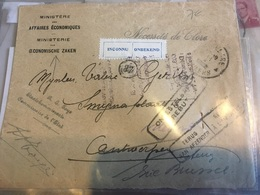 ROULERS -> ANVERS 1922 + Inconnu + Rebut + Retour Envoyeur - Marcofilia