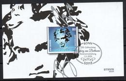 BRD - 2020 - Block 85 - 250. Geburtstag Ludwig Van Beethoven - ESST Bonn - Gestempelt - Blocks & Kleinbögen
