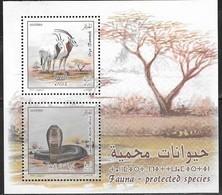ALGERIA, 2019, MNH, PROTECTED SPECIES, SNAKES, COBRAS, ORYX, SHEETLET - Serpenti