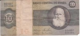 Billet Du Brésil—10 Cruzeiros—Non Daté—Etat Moyen - Brazil