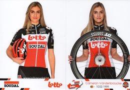 Cyclisme, Cameron Vandenbroucke, 2020, Scan Recto-verso - Ciclismo