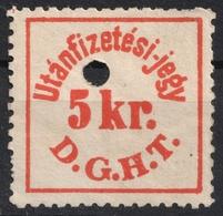 DDSG D.D.S.G. Danube Turkey Revenue Austria Hungary KuK K.u.K Ship Steamer Ticket 5 Kr. 1890's - Revenue Stamps