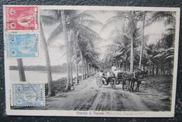 Sao Tome Orecho S Thomé Cpa Bien Timbrée Angola Voyagée - Santo Tomé Y Príncipe