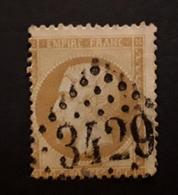 Empire No 21 , 10 C Bistre   Obl GC 3429 De SOMBERNON , Cote D'Or,   Ind 5, TB - 1862 Napoleon III