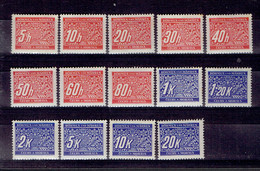 217 P1 - Bohème&Moravie - Bohmen Und Mahren - Cechy A Morava - Taxe 1-14 MNH Neuf Impeccable - Neufs