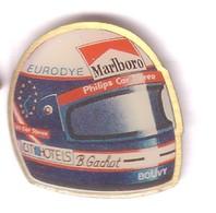 TT66 Pin's Casque FI Bertrand Gachot  Pilote Franco-belge Belgique Marlboro Bouvy Eurodye Tabac Achat Immédiat Immédiat - F1