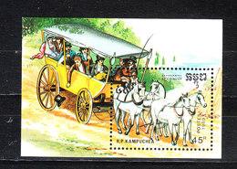 Kampuchea - 1989. Cavalli Da Tiro. Draft Horses. MNH - Caballos