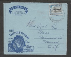 Air Letter, Illustrated, Visit Game Reserves, Visit Rhodesia & Nyasaland, Franked 3d,  CHINGOLA 3 JAN 62 > S.Africa - Rhodesia & Nyasaland (1954-1963)