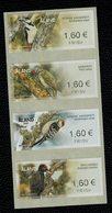 Aland 2019 Birds WoodPeckers - Picchi Franking Labels 4v Complete Set  ** MNH - Aland