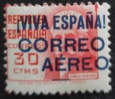 Timbre Local Patriotique De Burgos Correo Aereo N° 36 Avec Trace De Charnière - Emissioni Nazionaliste