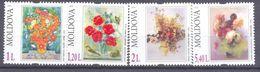 2010.  Moldova, Flowers Paintings, 4v,   Mint/** - Moldavia