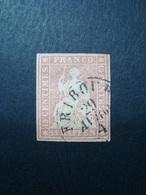 SVIZZERA 1854-1862 FRANCOBOLLO USATO N. 28 VAL. CAT. € 55,00 - 1854-1862 Helvetia (Ungezähnt)