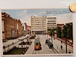 Belgrad, Serbien, Börse, Strassenbahn, Autos, 1930 - Serbie