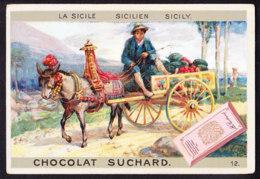 CHROMO Chocolat SUCHARD Moyens De Transport Sicile Sicilien Sicily   Serie 67 - Suchard