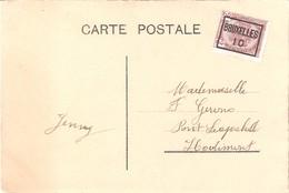 Préo Bruxelles 10 Sur Carte De L'expo De BXL 1910. - Precancels