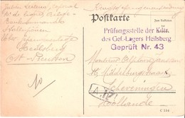 Carte Postale De Prisonnier De 1916. - Militaria