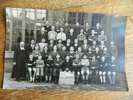 NAMUR:PHOTO CARTE DES ELEVES DE L'INSTITUT SAINT AUBAIN ANNEE SCOLAIRE 1945/46-7 EME ANNEE A - Namur