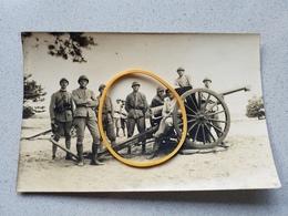 Photo Carte Canon Militaire Militaria Soldats  Photographe De Strasbourg - Ohne Zuordnung