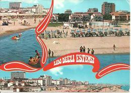 Lido Degli Estensi (Ferrara) Vedute E Scorci Panoramici Della Spiaggia, Panoramic Views Of The Beach, - Ferrara