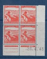 """FR Coins Datés YT 736 """" Profit Tuberculeux """" Neuf** Du 26.4.1945 - 1940-1949"""