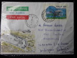 1979 - ITALIA - AEROGRAMMA - L. 220 - 70^ Anniv. Del 1^ Aereo A Progett. Italiana E Della 1^ Manif. Aviatoria -viaggiata - 1971-80: Marcophilie
