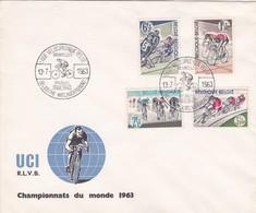 Enveloppe 1255 à 1258 Vélo Cyclisme Championnats Du Monde 1963 - Covers & Documents